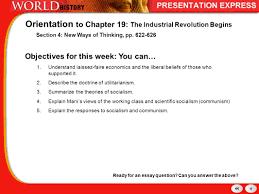 industrial revolution new ways of thinking robert owen orientation to chapter 19 the industrial revolution begins