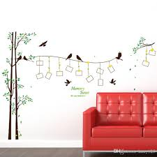 >diy modern photo frame birds tree wall stickers bedroom living room  diy modern photo frame birds tree wall stickers bedroom living room tv backdrop decoration pvc wall decor waterproof removable wallpaper wall art vinyl