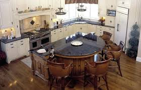 rounded kitchen island round bar in kitchen kitchen with brown antique  granite counters island and half