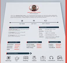 Resume Templates Best Adorable Best Free Resume Templates In PSD And AI In 28 Colorlib