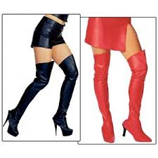 hooker boots. Perfect Hooker Image Is Loading LeatherLookThighHighBootTopsBikerChick With Hooker Boots