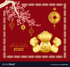 chinese new year card 2020 happy chinese new year rat 2020 card cherry