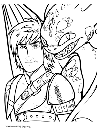 Small Picture How to Train Your Dragon 2 Hiccup and Toothless coloring page