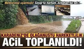 Son dakika: Sinop'ta hortum, Ardahan'da sel! Trabzon, Rize ve Giresun'da  acil toplanıldı.. - GÜNCEL Haberleri