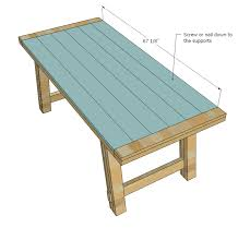 reclaimed wood furniture plans. Wonderful Reclaimed Wood Furniture Plans Ana White Benchright Farmhouse Table Diy Projects U