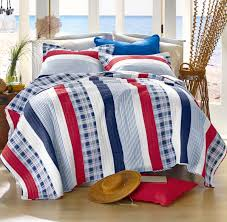 nantucket red bungalow white cottage seaside blue bedding quilt set view images