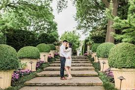 an elegant spring engagement session at the dallas arboretum and botanical gardens by allison jeffers wedding