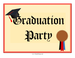 Printable Graduation Party Lawn Sign Sign