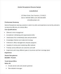 Medical Receptionist Resume Objectives Template For Templates Free