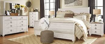Sleigh Bed Bedroom Sets Willowton Whitewash Sleigh Bedroom Set