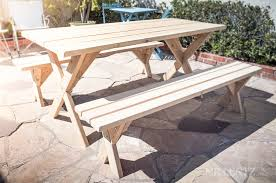 How To Build A Wooden Picnic Table  WOODPRIXHow To Make Picnic Bench