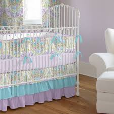 woods lavender crib bedding ideas