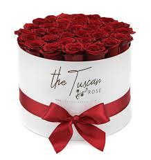 red rose luxury flower bouquet box white