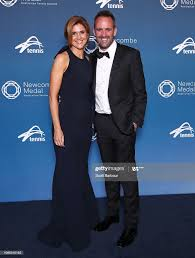 Matt Dwyer and Bernadette Dillon pose ahead of the Newcombe Medal at...  News Photo - Getty Images