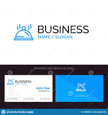 Visiting Card Design For Catering Services Logo And Business Card Template For Hotel Dish Pallet