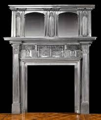 antique cast iron art nouveau fireplace mantel
