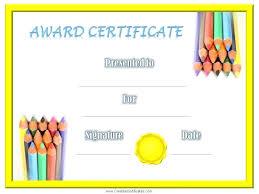 free preschool certificates best templates free certificates templates for students