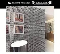 PE Foam 3D Brick Wall Sticker - Grey ...