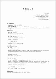 Student Resume Templates No Work Experience Certificate Of Honor