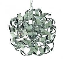 4974 4cc curls 4 light ceiling pendant polished chrome