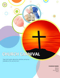 3 church carnival flyer templates using microsoft office 1 word bubbles church carnival template