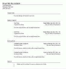 Free Printable Fill In The Blank Resume Templates Resume Sample
