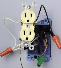 installing a receptacle how to install a new electrical fixture Receptacle Wiring tighten ground screw enlarge image receptacle wiring diagram