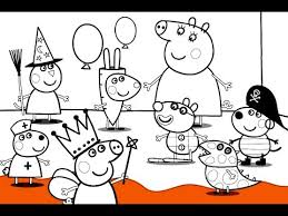 Small Picture Peppa Pig Fancy Dress Party Coloring Book Pages Video for kids