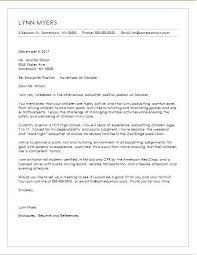 Babysitter Cover Letter Chechucontreras Com