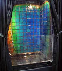 color changing shower tile shower tile changes color depending on the temperature of water