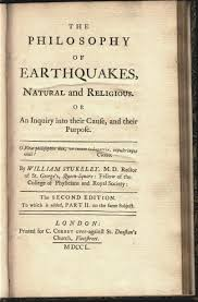 earthquakes as explored in the early philosophical transactions title page the philosophy of earthquakes natural and religious 1750 thordarson