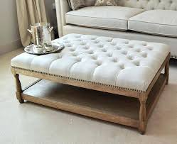 tufted coffee table ottomans round coffee table turns into tufted ottoman