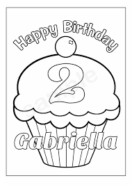 Birthday Cupcake Coloring Page ~ Image Inspiration of Cake and ...