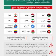 وزارة الداخلية السعودية تحذر من السفر إلي الدول المحظورة وأسماء تلك الدول  المحظورة