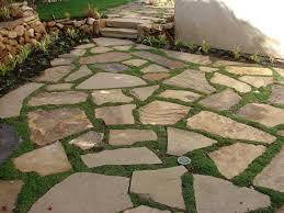 Fine Loose Flagstone Patio Set With Ground Cover A Impressive Design