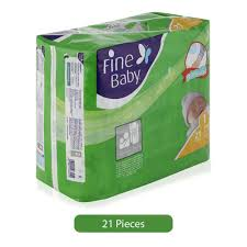 Fine Baby Newborn Size 1 Diapers 21 Pieces