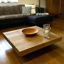 square coffee table oak square coffee table square coffee tables floating square oak sleeper table