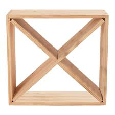 cube wine rack. Interesting Rack Wine Enthusiast 24Bottle Compact Cellar Cube Rack In Natural Intended I
