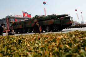 rethinking u s policy of strategic patience a n vehicle carrying an apparent new missile passes by during a mass military parade