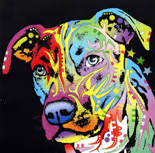 2018 yj art angel pit bull artwork unframed modern canvas wall art for home and office decoration oil painting animal painting frame painting from