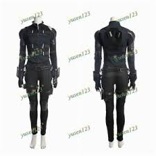 Details About Avengers Infinity War Black Widow Woman Cosplay Costume Suit Full Set In Stock