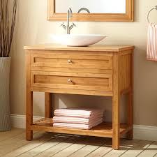open shelf bathroom vanities interior furniture brown stained wooden bath  full size of vanity trough sink