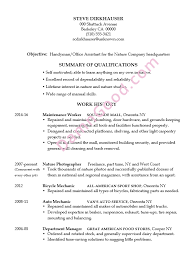 Resume Example Handyman