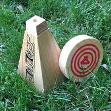 Lawn Game With Wooden Blocks Delectable Wooden Yard Game Block Hands Outdoor Wooden Games To Make