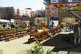 a new outdoor hub for food beer coffee live and events is headed to the east village