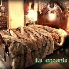 king queen plush light timber wolf fur