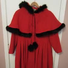 Collectif Red Black Retro Cape Gretel Coat 2xl