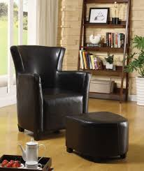 leather chair and a half with ottoman modern chair