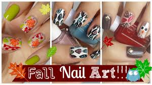 Easy Fall Nail Designs For Beginners Fall Nail Art Three Easy Tutorials Missjenfabulous