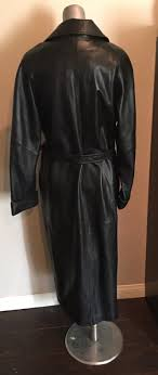 leather a deal on a very nice vintage neiman marcus black leather trench coat